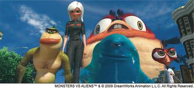 DreamWorks Animation SKG、「モンスターVSエイリアン」の立体視映像制作でAutodesk Maya と Autodesk Lustre を活用