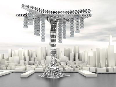 「上空地を最大限に利用した未来の高層ビル」 アルゴリズムデザインラボ インタビュー3D モデリング、BIM、環境シミュレーション...... 3ds Max を核に展開する「泥臭い」コンピュテーションの世界