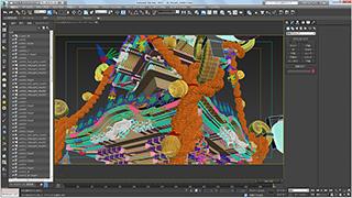 Autodesk 3ds Maxによる制作画面