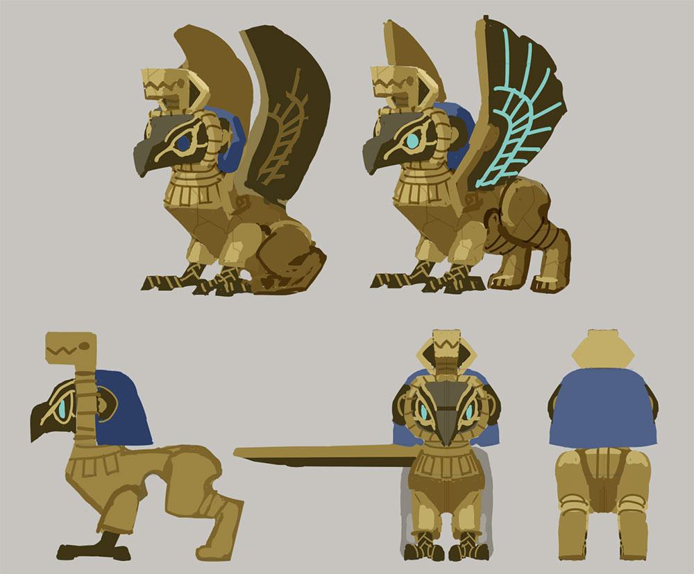 『シドニーとあやつり王の墓』ホルスの間(第2ステージ)に登場するモンスターのデザイン画