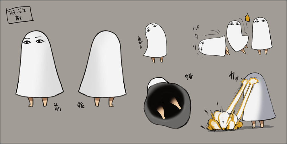 登場するモンスターのデザイン画