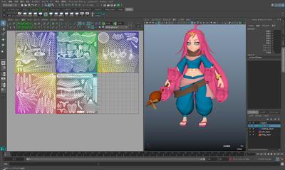 Chara@Maya~Maya 2016で気軽にはじめるキャラクター制作~第3回:モデリングその②/UV展開 ~3Dと2Dの橋渡し~