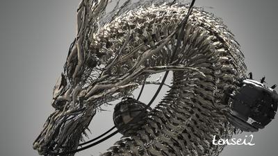 天睛技〜画龍の3ds Max テクニック〜二ノ壱〜ドラゴンを複数人で作るワークフロー デザイン&Vコンテ〜