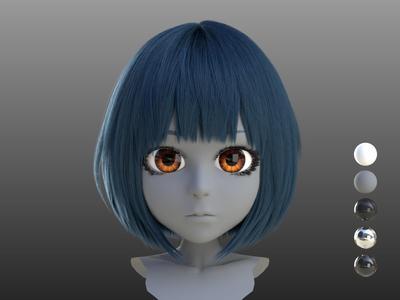 CharacterArpeggio~3ds Max 2017 キャラクター作成術~第3回:髪の作成とチェックレンダリング~HairFarmで植毛!~