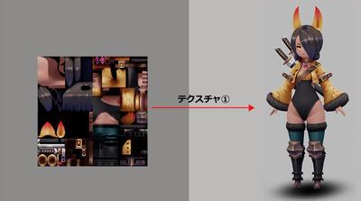 Mayaで始めるゲーム用ローポリキャラモデル第3回:素体モデル完成まで(UV展開とテクスチャ作成)