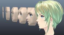 そこはかとなくアウトローなモデリング方法でセルルックの美女を作ってみた <br>第2回:側面テンプレートをガイドとした頭部立体化手順