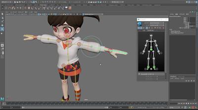 ゼロから始めるMAYAアニメーション第4回:HumanIKを動かしてみる。①