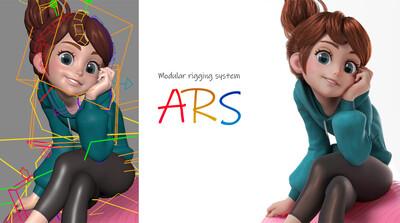 Mayaの標準機能だけでリグを作るテクニック第1回:モジュラーリギングシステム「ARS」概要