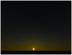 日没時の空の色