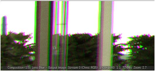 Compositteを使って故意に色収差を与えた状態