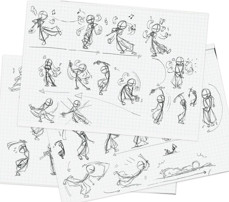 手書きのアニメーション構想