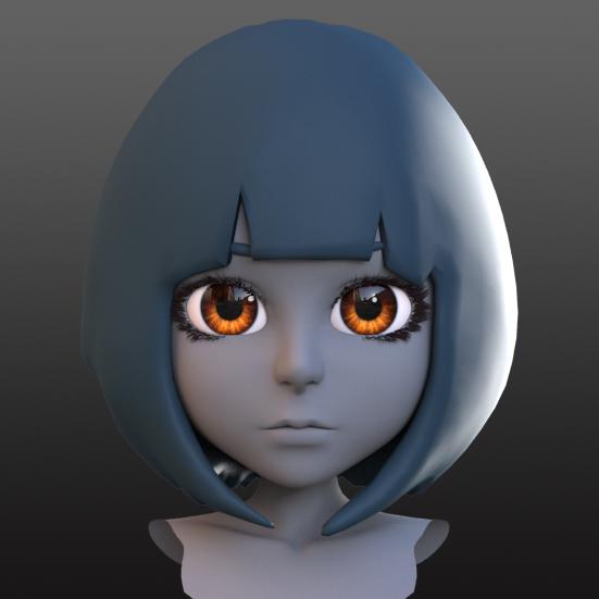 頭部のモデリング