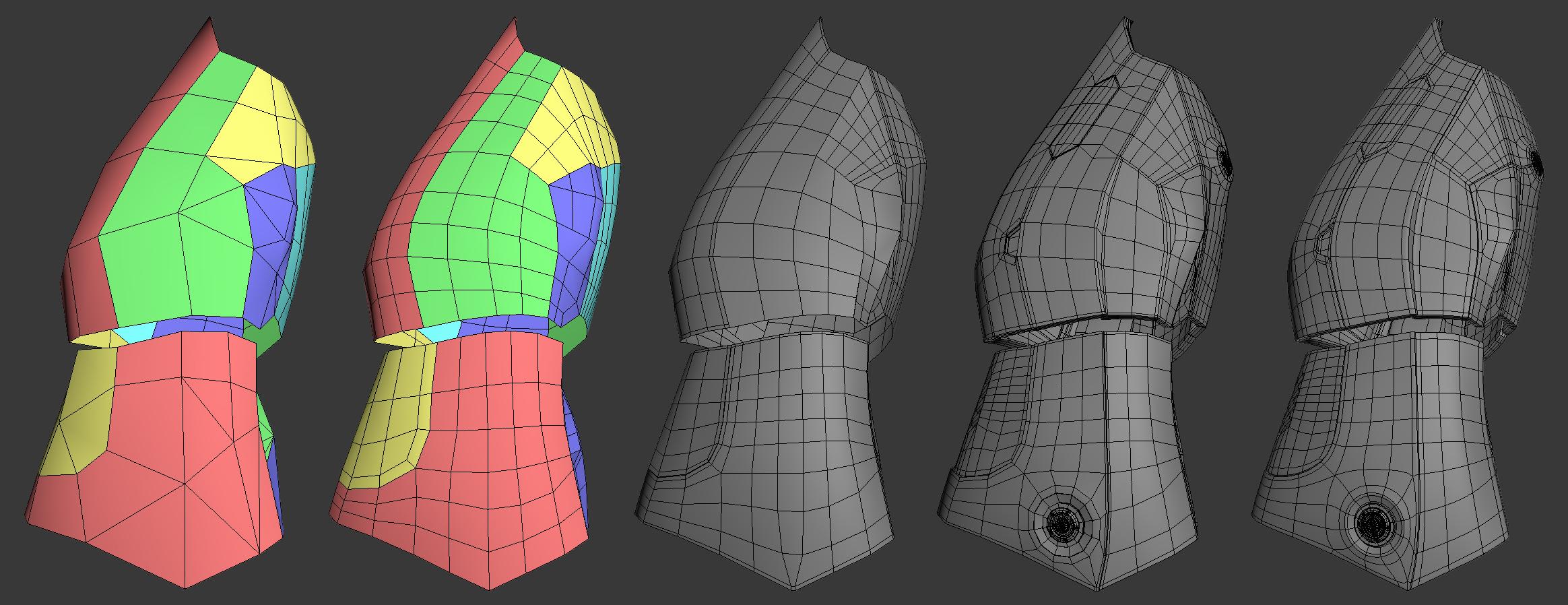 素体を分離してモデリング
