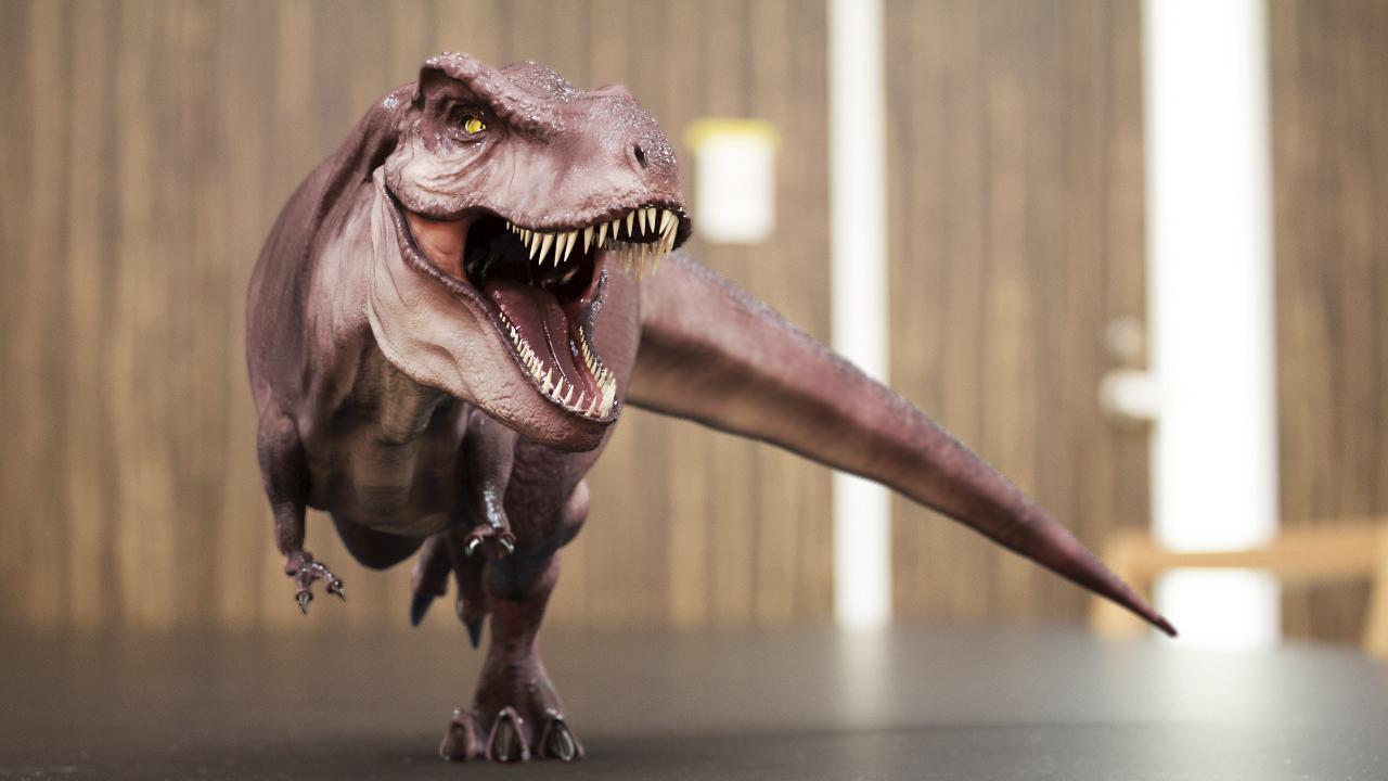自作した恐竜