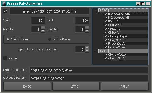 Create Render Scene&RenderPal-Submitter&RenderPresets