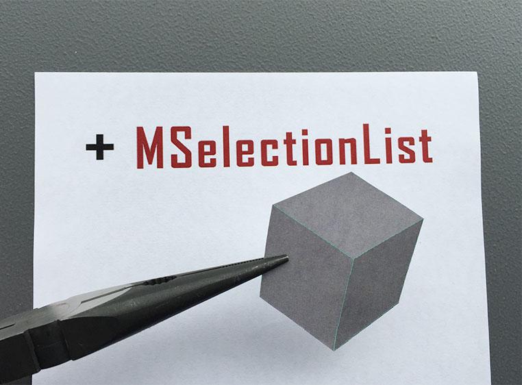 +MSelectionList