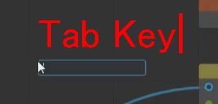 Tabキーを押すことで検索窓を呼び出す