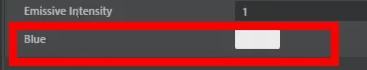 headphone_SHDマテリアルで確認すると、先ほどまでmaterial variableと表示されていたパラメーター名がBlueになっていることが確認できる