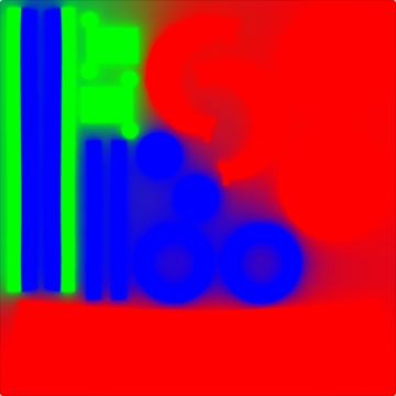 RGBで領域を別けたテクスチャ