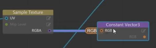 [Constant Vector3]ノードを作成し、RGBへ入力